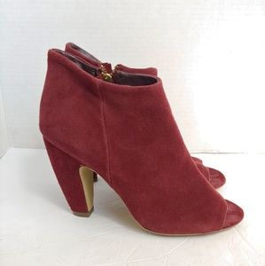 Steve Madden open toe suede ankle boots
